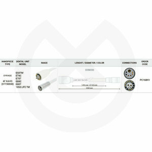 Product - MANGUERA JERINGA 1250 MM 4F KAVO-750 OHM