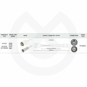 Product - MANGUERA JERIN 1550 MM 4F KAVO - 750 OHM