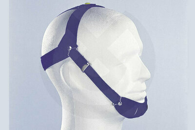 Product - CASCO OCCIPITAL CON MENTONERA AZUL