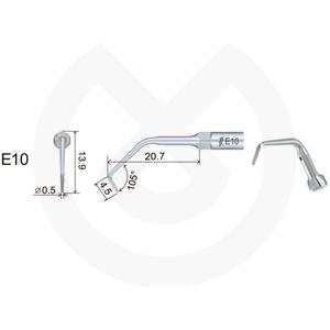 Product - INSERT WOODPECKER ENDODONCIA COMPATIBLE EMS/MECRON. E10 (EN1 MECTRON)