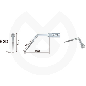 Product - INSERT WOODPECKER ENDODONCIA COMPATIBLE EMS/MECRON. E3D
