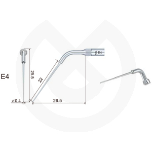 Product - INSERT WOODPECKER ENDODONCIA COMPATIBLE EMS/MECRON. E4