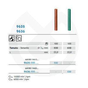 Product - PULIDOR OCLUSAL ALEACIONES 9635.900.030 Ø 3mm L:22mm