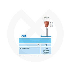 Product - ABRASIVO CONO INVERTIDO PM 736.104.240 MARRON  CX10 KOMET