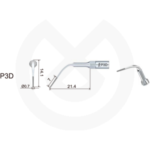 Product - INSERT WOODPECKER PERIODONCIA COMPATIBLE EMS/MECRON. P3D (DP