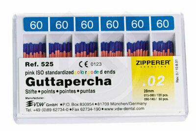 Product - PUNTAS DE GUTTAPERCHA ISO Nº 15-80 VDW
