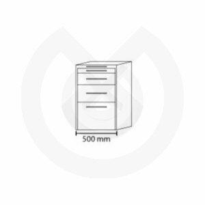 Product - MUEBLE MOVIL 500*475*810H HS 4 CAJONES